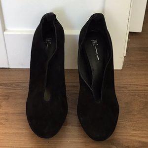 I.N.C. Black Suede Heels
